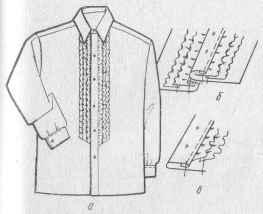 Обработка застежек переда в мужских сорочках с разрезом до низа