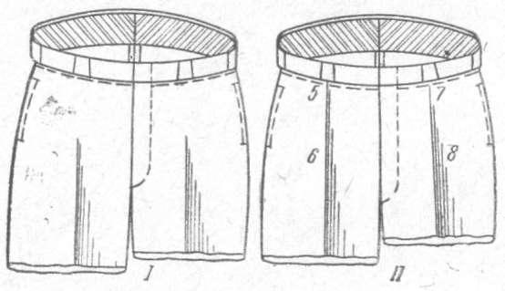 Рис. 45. Верхняя часть брюк